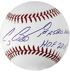 Craig Biggio Autographed Baseball Inscribed HOF 2015