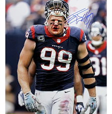 JJ Watt Signed Texans 16x20 Photo